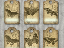 9 vintage gift trailer / tags – Digital Design, Scrapbooking