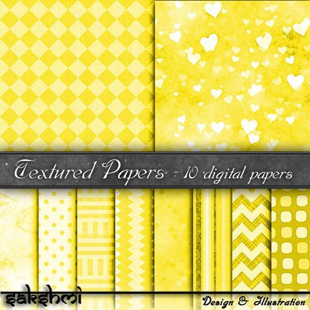 Digital Paper, backgrounds yellow