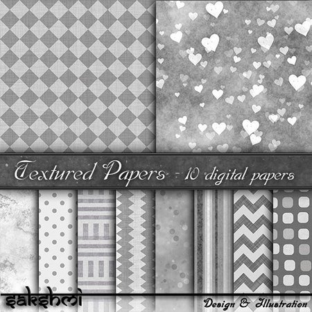 Digital Paper, backgrounds gray