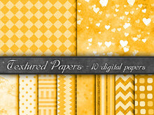 Digital Paper, backgrounds orange
