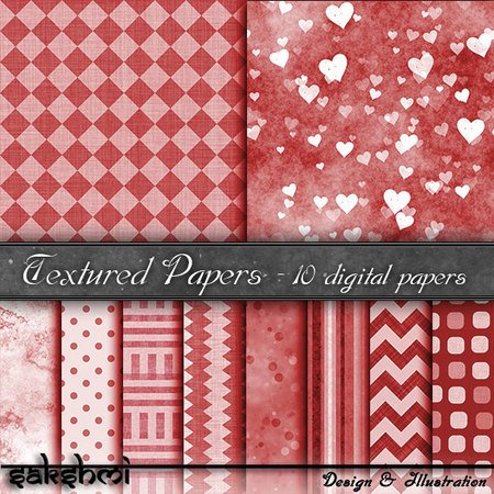 Digital Paper, backgrounds red