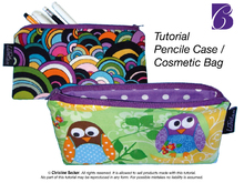 PDF E-Book Tutorial Pencil Case / Cosmetic Bag