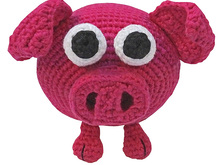 PDF crochet pattern tutorial amigurumi animal glotzi pig piggy stuff toy digital swine pork sow pink ebook hog file kids