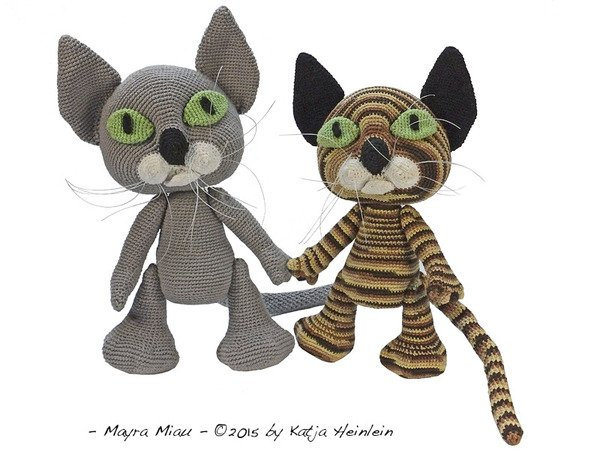198 Crochet Pattern - Jeremy the Cat - Amigurumi toy PDF file by ... | 450x600