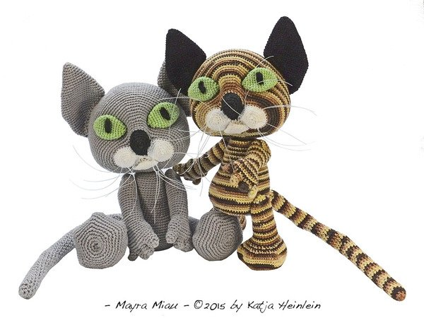 crochet pattern Mayra Miau, PDF cat, persian tutorial ebook