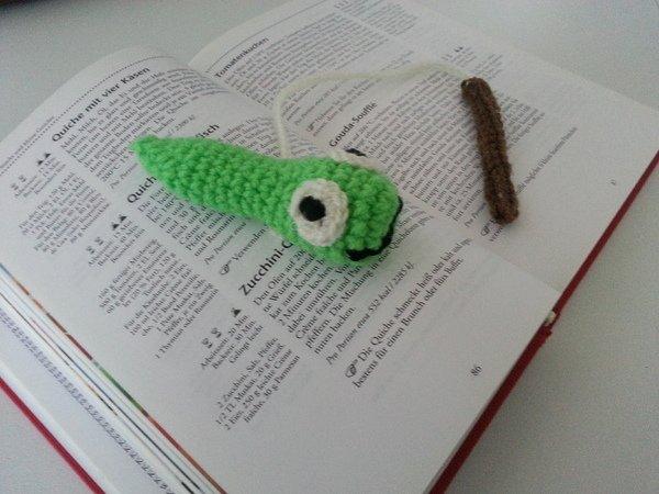 Gratis Bücherwurm Häkeln Lesezeichen Diy