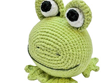 amigurumi animal glotzi PDF crochet pattern tutorial by Katja Heinlein stuff toy kids toad frog green digital file ebook stuffie plushie kid