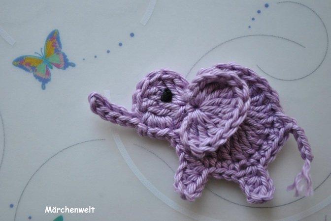 kostenlose Anleitung Applikation Elefant DIY