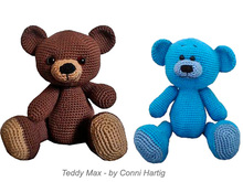 amigurumi max teddy bear crochet PDF pattern tutorial crochet stuffed animal designed by Conni Hartig file ebook plush toy cuddly