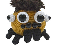 amigurumi animal glotzi PDF crochet pattern tutorial spider stuff toy digital tarantula black widow ebook file digital