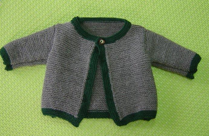 Baby-Jacke stricken - Trachtenjacke fürs Baby
