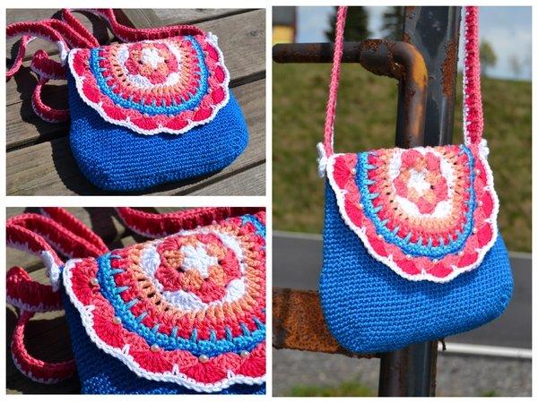 Tasche häkeln--Umhängetäschchen mit Mandala