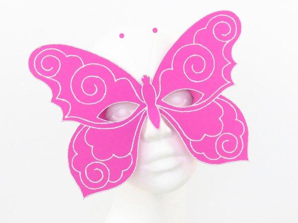 Augenmaske Schmetterling In Pink Bastelvorlagen Mit Anleitung