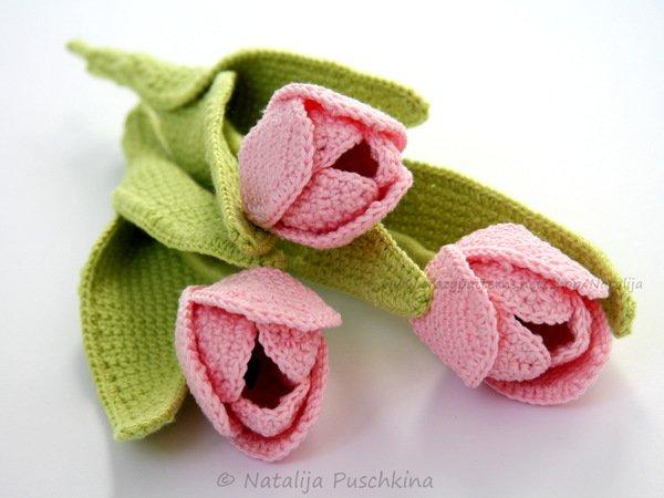 Blumen häkeln // Tulpen-Strauß häkeln - DIY