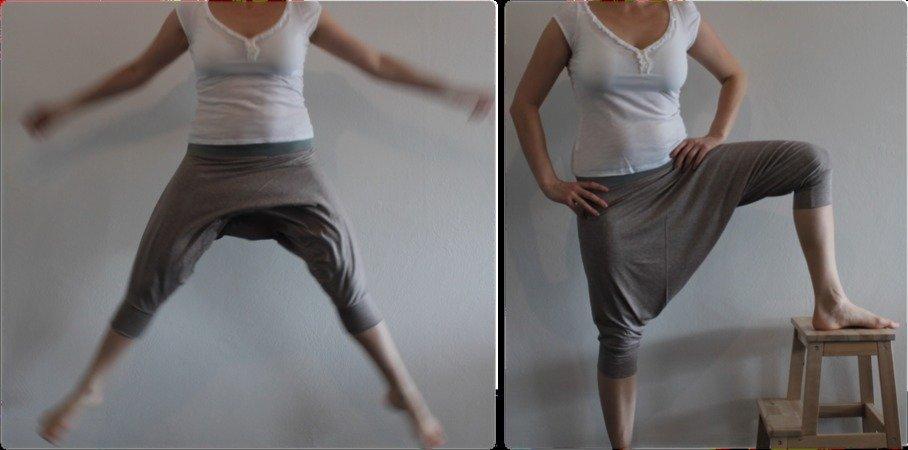Haremshose, Yogahose, maßgeschneidert für Damen