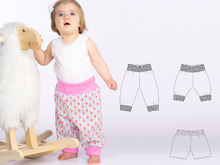 Baby pants sewing pattern pdf for boys + girls ARIA