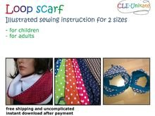 Loop scarf, for children or adults
