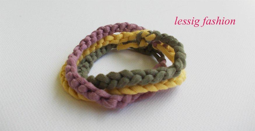 Freundschafts-Armband, Kinderarmband, kleine Häkelschule, Luftmaschen