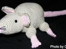 amigurumi rat bibi crochet PDF pattern tutorial crochet animal designed by Conni Hartig file ebook