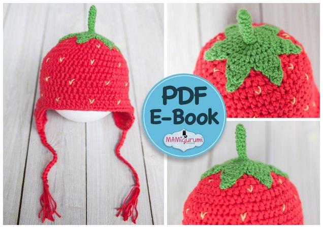 Häkelanleitung E Book Erdbeermütze Erdbeere