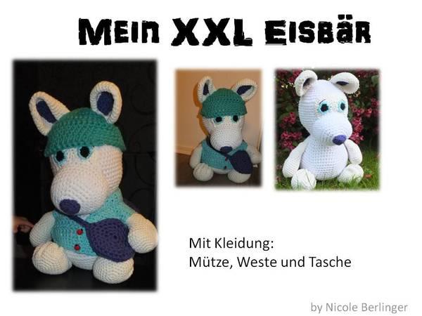 Amigurumi Xxl Digital : Eisbar hakeln // XXL Barchen hakeln // DIY