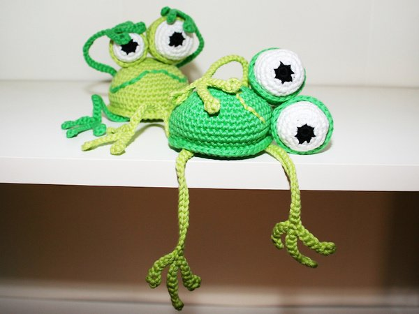 Frosch häkeln // Regalhocker häkeln // Deko