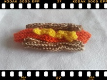 Strickanleitung Hot Dog- ganz simpel zu stricken
