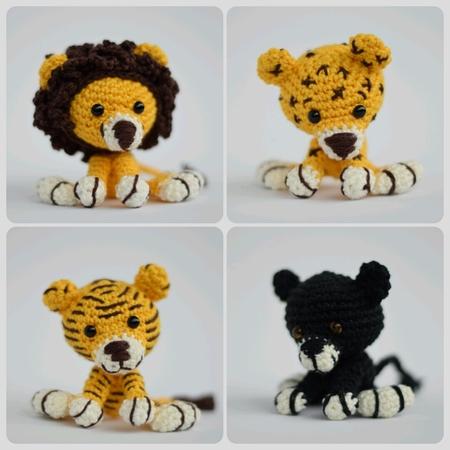 Löwe häkeln ++ Panther häkeln++Leopard häkeln