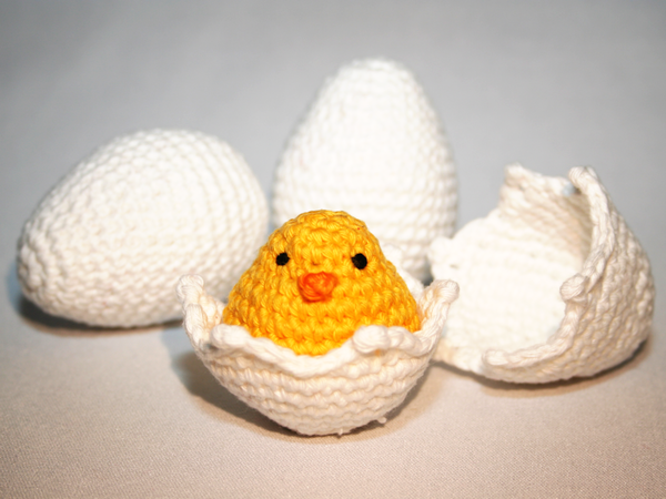 Egg Collection + Chick - Crochet Pattern