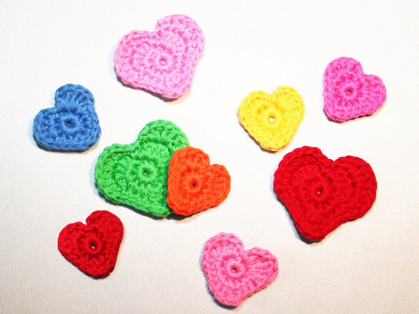 Hearts 2 Sizes Free Crochet Pattern