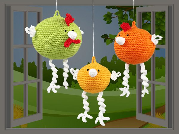 Chickens - 3 sizes - Crochet Patterns