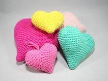 Hearts - 3 sizes - Crochet Pattern