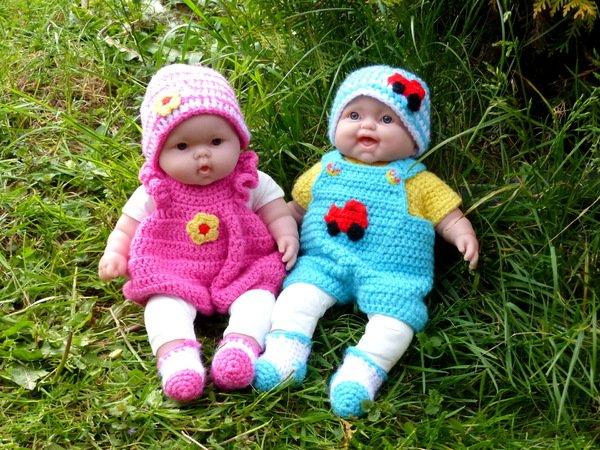 Puppen-Kleider häkeln // super für Anfänger