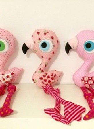 E-Book Flamingo - Mädchen Lulu Anleitung Kuscheltier und Applikation