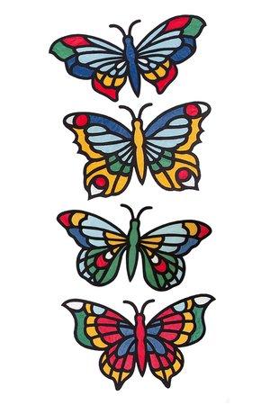 Schmetterling Vorlage Fensterbild 595 Malvorlage 15