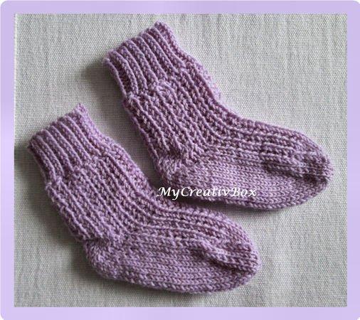 Gratis Strickmuster Säuglings Socken Stricken
