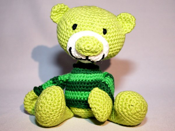 Teddy Häkeln Kuschelig Und Sehr Anhänglich