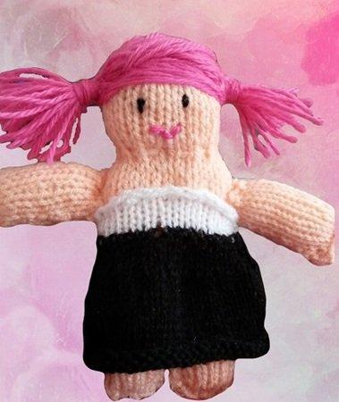 Strickanleitung Puppe Pink Sarah