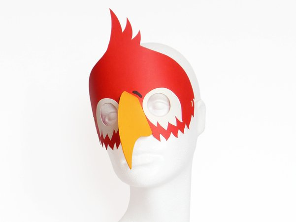 Maske Papagei Bastelvorlagen Mit Anleitung