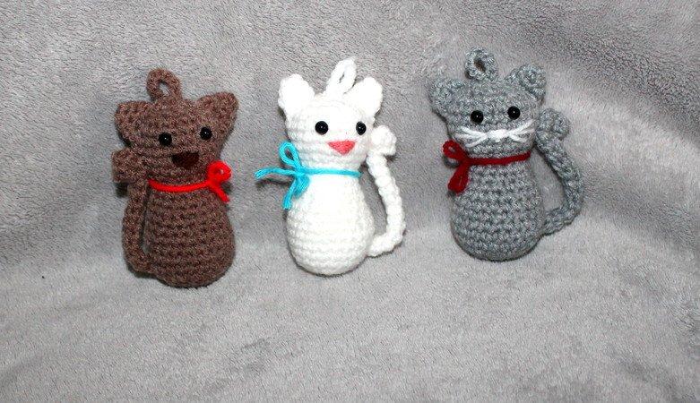 Katze Häkeln Taschenbaumler Anhänger