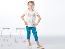 Easy baby girls + boys leggings stretch pants sewing pattern pdf BIBI