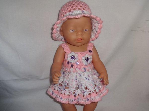 Häkelanleitung für ein Sommer Puppenkleid für die Größe 40/45 cm