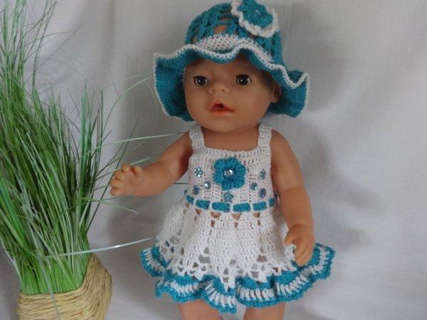 Häkelanleitung Für Ein Sommer Puppenkleid Für Die Größe 4045 Cm