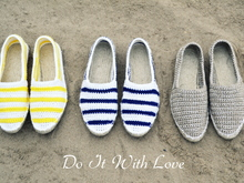Espadrilles Nautical Häkelanleitung E-Book