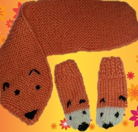 Strickanleitung Kinderset Schal und Handschuhe, Kinderhandschuhe ...