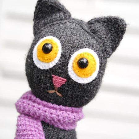 Gratis Katze Stricken Kostenlose Anleitung