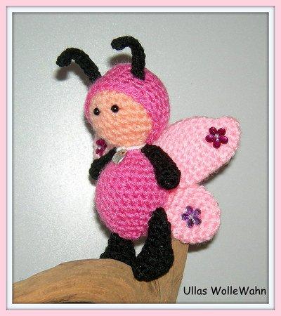 Schmetterling häkeln//Puppe als Schmetterling