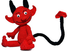 Damon Devil, PDF crochet pattern tutorial fantasy file download stuff