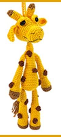 Anhänger Giraffe Häkeln Deko Amigurumi Diy