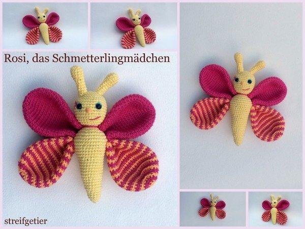 Schmetterling häkeln//fröhlich++bunt = Deiner